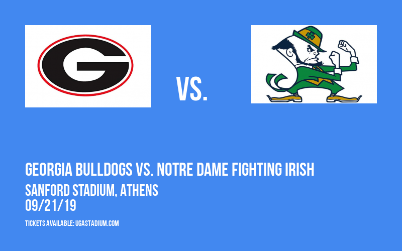 PARKING: Georgia Bulldogs vs. Notre Dame Fighting Irish at Sanford Stadium