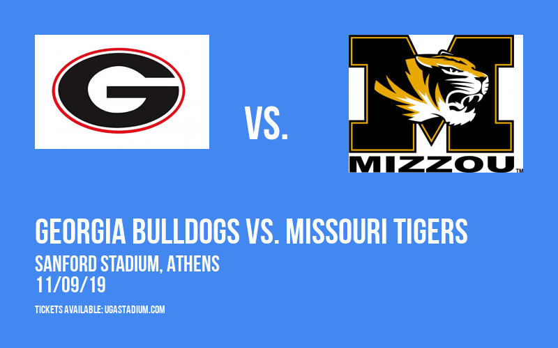 Georgia Bulldogs vs. Missouri Tigers at Sanford Stadium