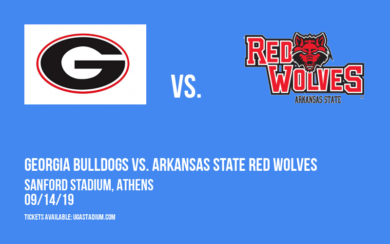 PARKING: Georgia Bulldogs vs. Arkansas State Red Wolves at Sanford Stadium