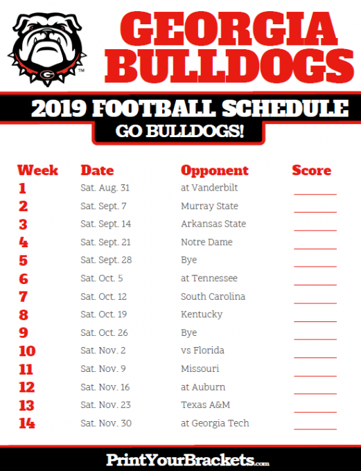 Georgia Bulldogs vs. Murray State Racers at Sanford Stadium