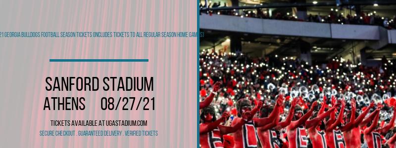 2021 Georgia Bulldogs Football Season Tickets (Includes Tickets To All Regular Season Home Games) at Sanford Stadium