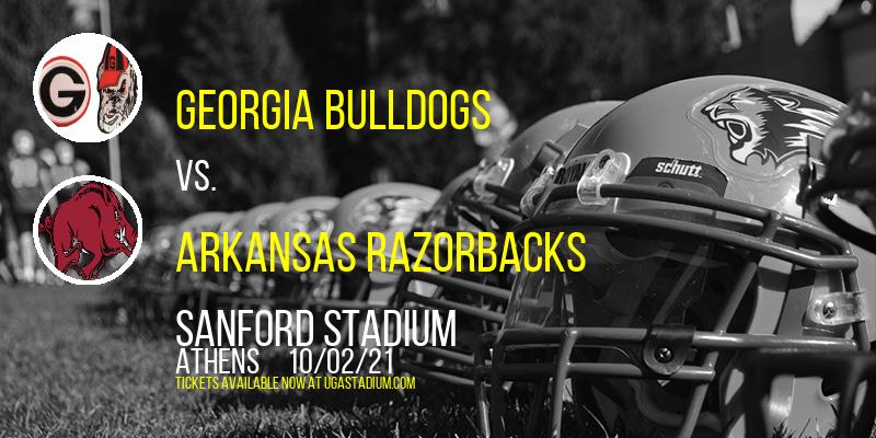 Georgia Bulldogs vs. Arkansas Razorbacks at Sanford Stadium